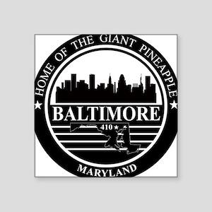 Baltimore logo black and white Sticker