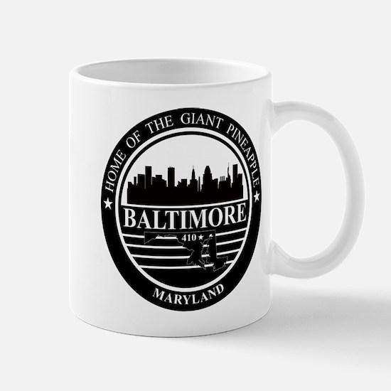 Baltimore logo black and white Mug