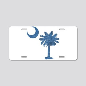 Vintage South Carolina Flag Aluminum License Plate