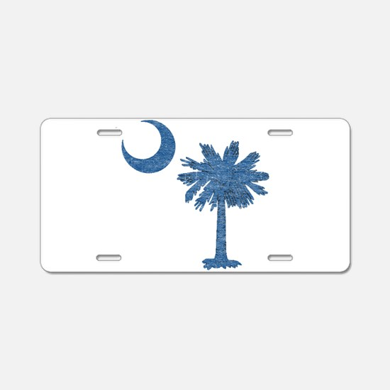 Vintage South Carolina Flag Aluminum License Plate