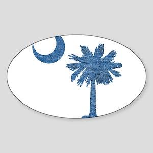 Vintage South Carolina Flag Sticker (Oval)