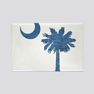 Vintage South Carolina Flag Rectangle Magnet