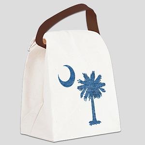 Vintage South Carolina Flag Canvas Lunch Bag