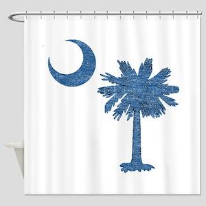 Vintage South Carolina Flag Shower Curtain