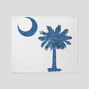 Vintage South Carolina Flag Throw Blanket