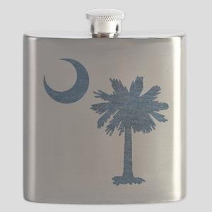 Vintage South Carolina Flag Flask
