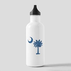 Vintage South Carolina Flag Stainless Water Bottle
