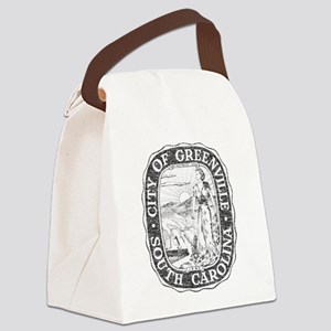Faded Greenville South Carolina Canvas Lunch Bag