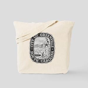 Faded Greenville South Carolina Tote Bag