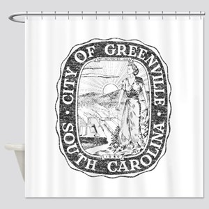 Faded Greenville South Carolina Shower Curtain