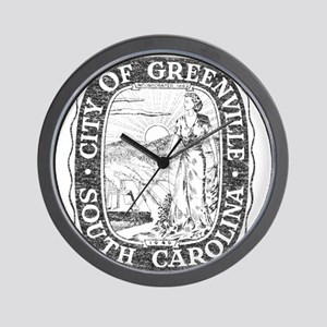 Faded Greenville South Carolina Wall Clock