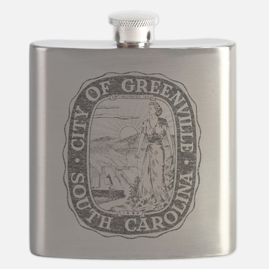 Faded Greenville South Carolina Flask