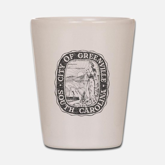 Faded Greenville South Carolina Shot Glass