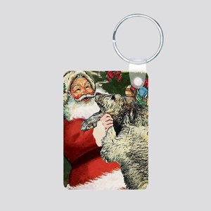 Irish Wolfhound Aluminum Photo Keychain