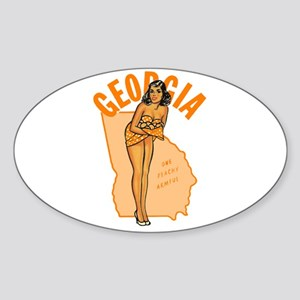 Vintage Georgia Pinup Sticker (Oval)