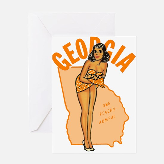 Vintage Georgia Pinup Greeting Card