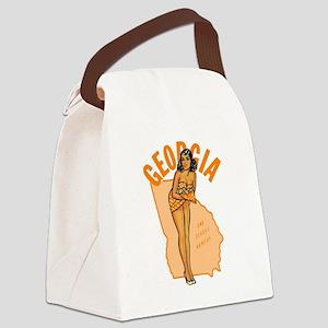 Vintage Georgia Pinup Canvas Lunch Bag