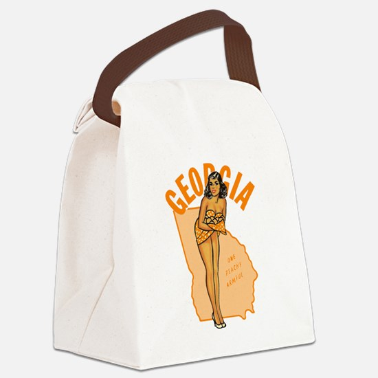 Vintage Georgia Pinup Canvas Lunch Bag