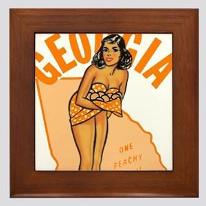 Vintage Georgia Pinup Framed Tile