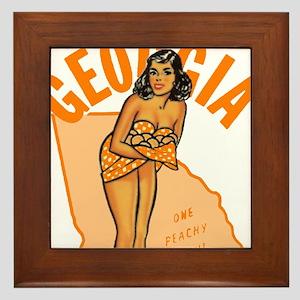 Vintage Georgia Pinup Framed Tile