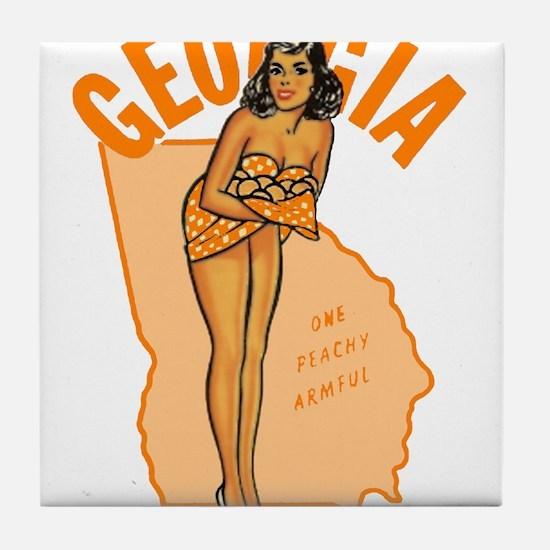Vintage Georgia Pinup Tile Coaster
