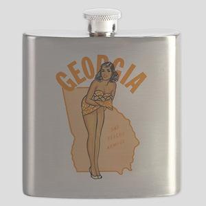 Vintage Georgia Pinup Flask