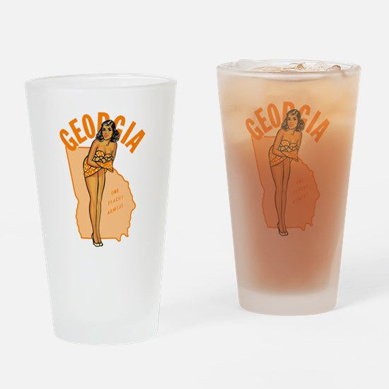 Vintage Georgia Pinup Drinking Glass