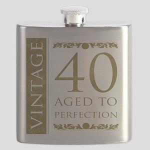 Fancy Vintage 40th Birthday Flask
