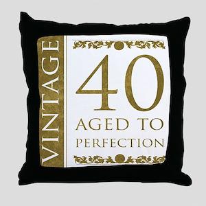 Fancy Vintage 40th Birthday Throw Pillow