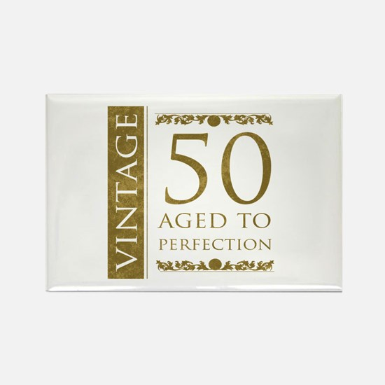 Fancy Vintage 50th Birthday Rectangle Magnet