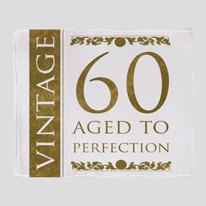 Fancy Vintage 60th Birthday Throw Blanket