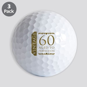 Fancy Vintage 60th Birthday Golf Balls