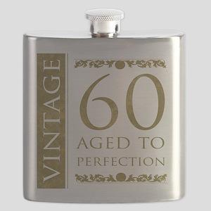 Fancy Vintage 60th Birthday Flask