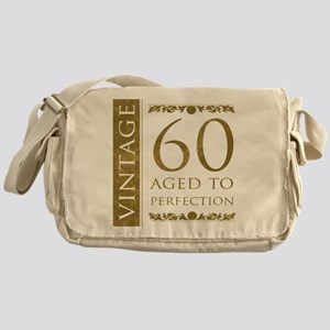 Fancy Vintage 60th Birthday Messenger Bag