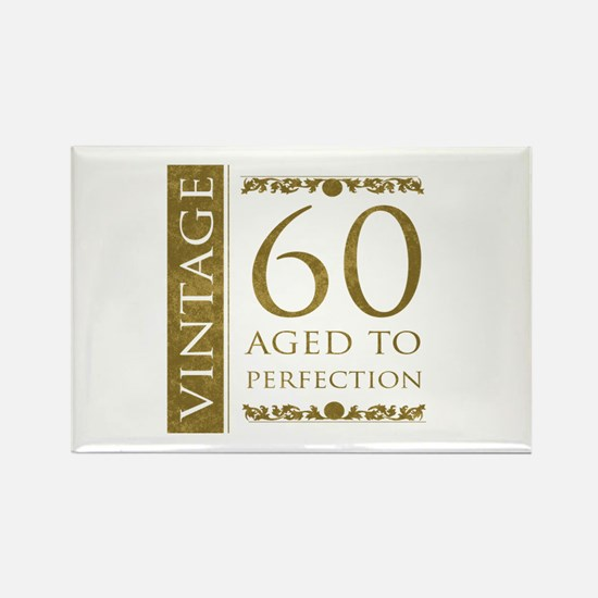 Fancy Vintage 60th Birthday Rectangle Magnet
