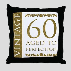 Fancy Vintage 60th Birthday Throw Pillow