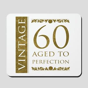 Fancy Vintage 60th Birthday Mousepad