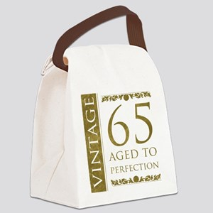 Fancy Vintage 65th Birthday Canvas Lunch Bag
