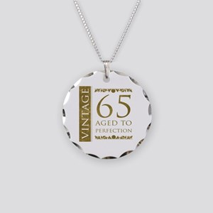 Fancy Vintage 65th Birthday Necklace Circle Charm