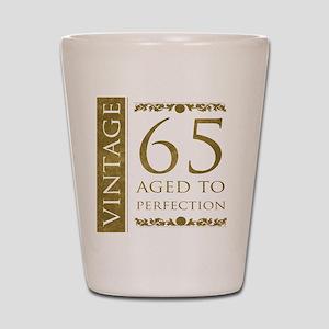 Fancy Vintage 65th Birthday Shot Glass