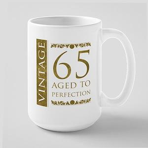 Fancy Vintage 65th Birthday Large Mug