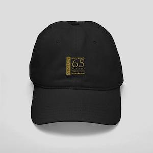Fancy Vintage 65th Birthday Black Cap