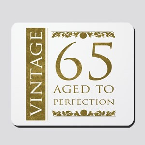 Fancy Vintage 65th Birthday Mousepad