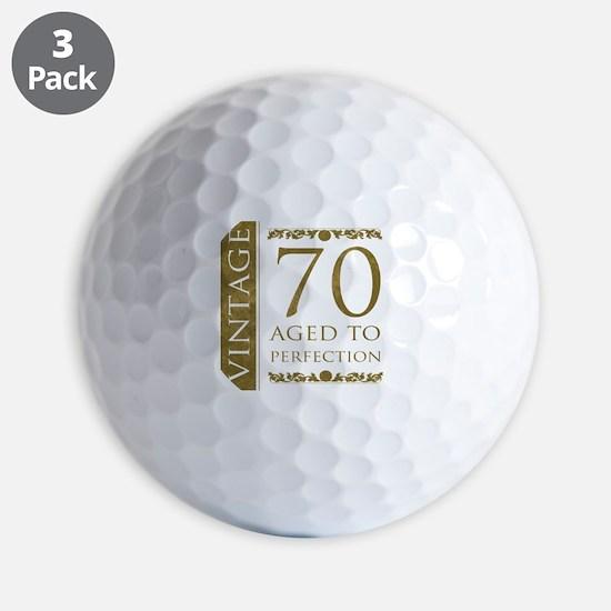 Fancy Vintage 70th Birthday Golf Ball