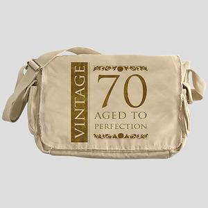 Fancy Vintage 70th Birthday Messenger Bag