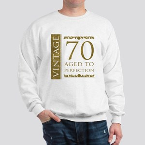 Fancy Vintage 70th Birthday Sweatshirt