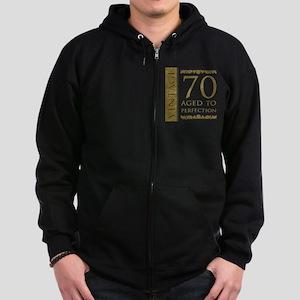 Fancy Vintage 70th Birthday Zip Hoodie (dark)