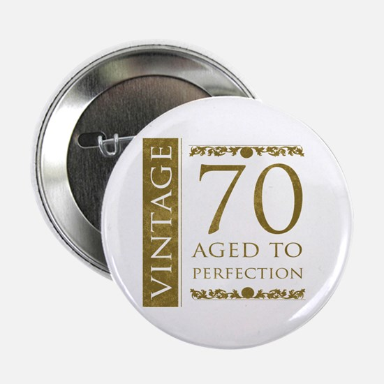 "Fancy Vintage 70th Birthday 2.25"" Button"