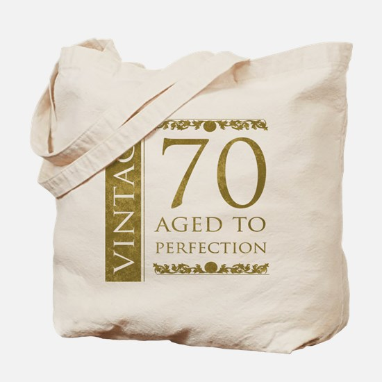 Fancy Vintage 70th Birthday Tote Bag
