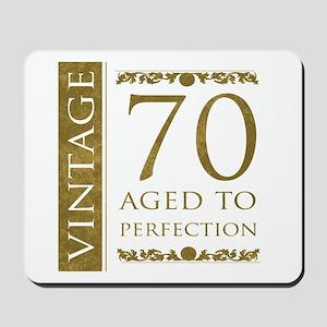 Fancy Vintage 70th Birthday Mousepad